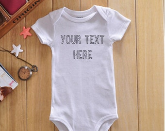 Custom Baby Onesie, Custom Onsie, Personalized Onesie, Create Your Own Onesie, Unique Showers Gift, Baby Shower Gift, New Mom Gift