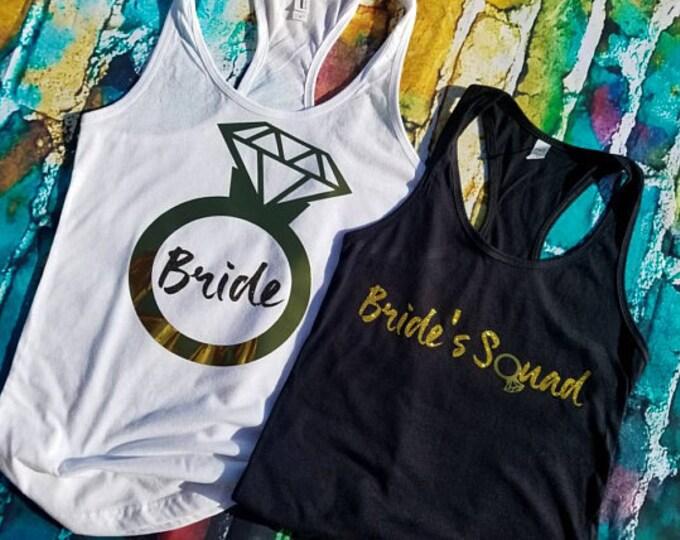 Bride Tank Top. Wedding Tank Top. Bride Squad Tank. Wedding Tank. Bride Shirt. Wedding Shirt. Bridal Party Tanks. Wedding Day Shirt.