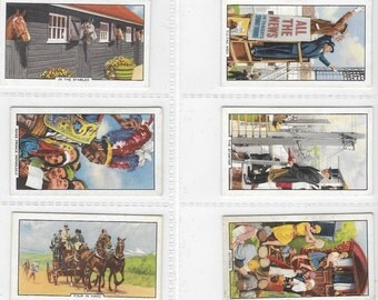British Cigarette Card Set (Full Set of 48 Cards) - Horse Racing Scenes. Issued 1938 by Gallaher Cigarettes. Superb Set of Interesting Cards