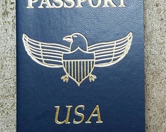 Mini USA Passport for Baby Shower, Travel Theme Party, Crafting