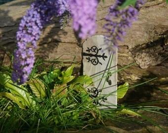 Real Stone Ornate Miniature Door for Fairies, Elves & Pixies!
