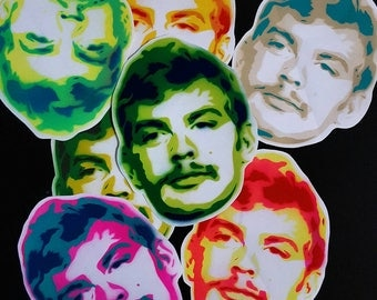 Jeffery Dahmer 2.0 paper stickers. 8 pack. 6 inches.