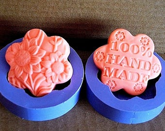 Silicone Mold - silicone flower mold - handmade mold - flower soap mold - handmade soap mold - Polymer Clay Resin