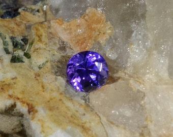Tanzanite, 0.77 carats, round cut