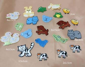 Wholesale Lot 21pcs tiny mini  cartoon collection   embroidered iron on patch