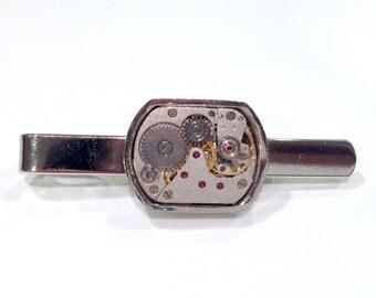 Steampunk Watch Movement Tie Clip