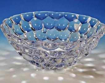Raspberry, raspberry glass bowl, Orrefors Sweden