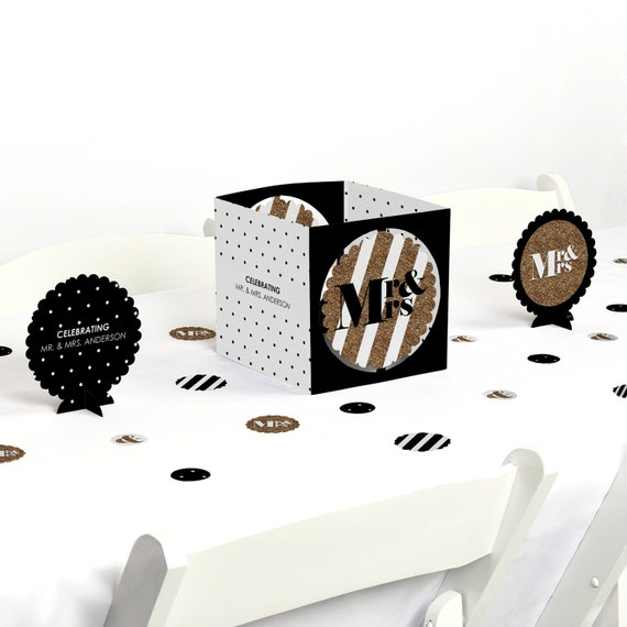 Mr and mrs gold centerpiece table decoration kit
