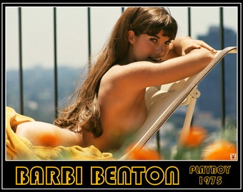Playboy Playmate Barbi Benton - Retro Playmate Poster - Playboy - Pin Up