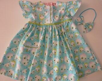 Spring Print Toddler Dress