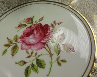 Cake Plate Vintage Gold Chintz and Gold , Phoenix