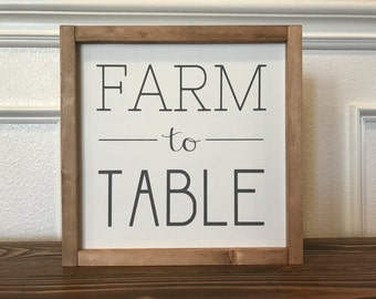 Farm to Table Sign