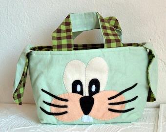 Easter bag rabbit Green