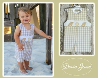 Boy Romper, Boy Summer Romper, Shortall, Baby Boy Beach Outfit, Baby Boy Jon Jon, Boys Beach Outfit, Toddler Boy Summer, Toddler Boy Jon Jon