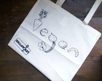 Vegan Tote Bag, Great for shopping. Fair Trade Wear, 100% Cotton, Vegan Gift