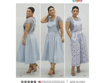 Simplicity Sewing Pattern 8301 Mimi G Style Misses' Overalls and Knit Crop Top