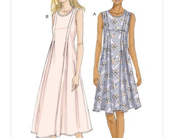 Vogue Sewing Pattern V9236 Misses' Released-Pleat Fit-and-Flare Dresses