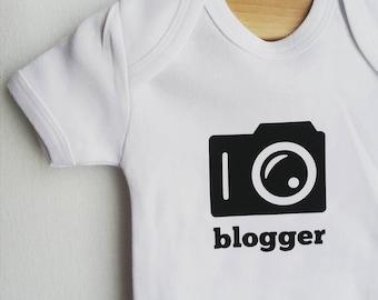 BLOGGER / camera / onesie / baby fashion / ready to ship / bodysuit