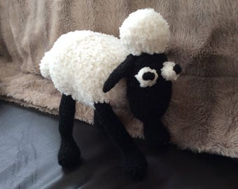 Knitted Shaun the Sheep