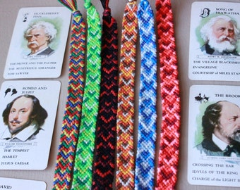 Chevron Friendship Bracelets, Made to Order Friendship Bracelets, Braided Friendship Bracelets,Woven Bracelets,Mens Bracelet,Reverse Chevron