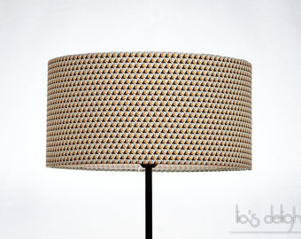 Geometric Drum lampshade blue and yellow