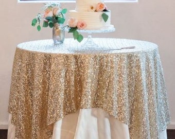 Light Gold Sequin Tablecloth, Light Gold Tablecloth, Gold Glitter Table Cloth, Gold Tablecloth, Tablecloth, Sweetheart Table, Table Runners