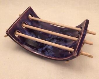 MINI soap dish with sticks - purple