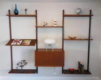 Mid Century Danish Cado Wall Unit in Walnut by Paul Cadovious for Royal System