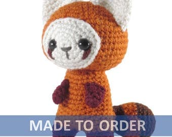 MADE TO ORDER Red Panda Amigurumi Crochet Plush