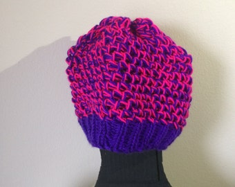 Pink an Purple Beanie Hat