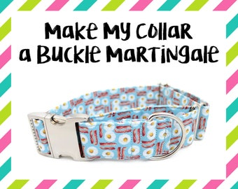 Make My Collar a Buckle Martingale - SEE DETAILS + IMAGES - Buckle Martingale Collar, Hybrid Martingale Collar, Buckle Martingale Add On