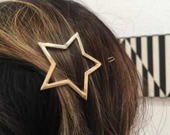 Gold Star Hair Clip