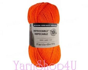 ORANGE CRUSH Impeccable Brights Yarn, Loops & Threads, Orange yarn, Bright Orange Impeccable Yarn, knitting yarn, Orange acrylic yarn