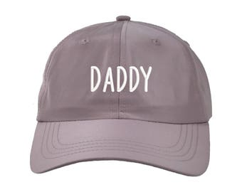 DADDY Satin Dad Hat, Embroidered Father's Baseball Cap 90s Style Hat, Lilac