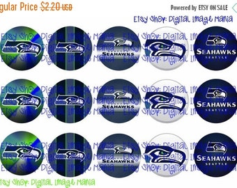 30% OFF SALE Seattle Seahawks Logos INSPIRED Instant Download 1 Inch Bottle Cap Images 4x6 Paper