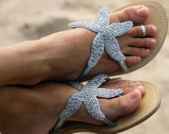 Aspiga Starfish Silver Leather Sandals