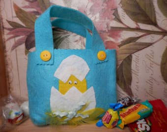 Felt gift bags candy bags gift wrapping christmas gift bags felt gift bags gift wrapping easter eggs birthday gift bags small felt treat bag coworker gifts fun gift bags easter chick bag negle Image collections