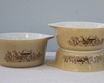 Pyrex Forest Fancies Vintage Bowls