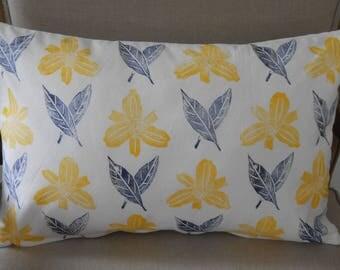 Yello orchid decorative pillow