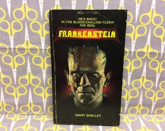 Frankenstein by Mary Shelley Paperback Book Horror Vintage