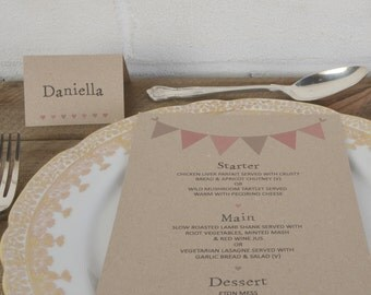Wedding Place Cards, Wedding Table Decorations, Place Cards, Kraft Place Cards, Wedding Place Names