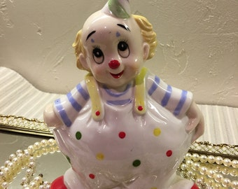 Lefton China Clown Figurine