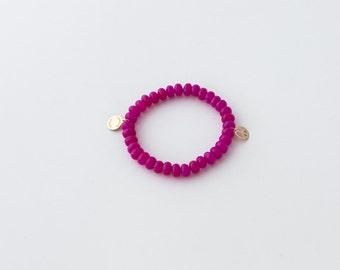 Magenta Peace Bracelet