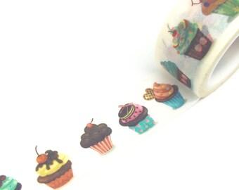 Cute Cupcakes Washi Tape 20mm x 5m