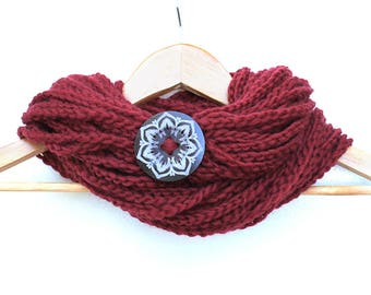 Blood Red Chain Infinity Scarf