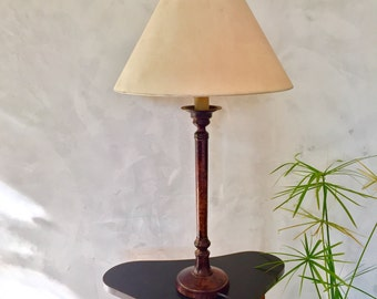 Lamp to ask 1970 roche bobois aged metal