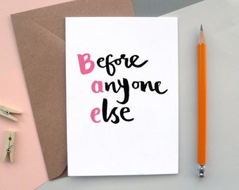 BAE | Before Anyone Else | Valentine's Day Card