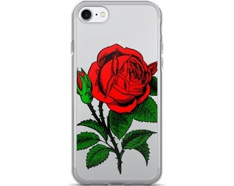 Rose iPhone Case • Red Roses iPhone 7 Case • Floral iPhone 6 Case • Cute iPhone 7+ Cases • Women's iPhone 6 Case ««« PF00 «