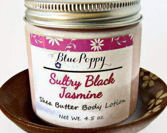 Sultry Black Jasmine Body Lotion, Moisturizer with Shea Butter