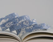 """1/2"""" Double Fold Bias Tape: Blooming Brook, Blue Floral"""